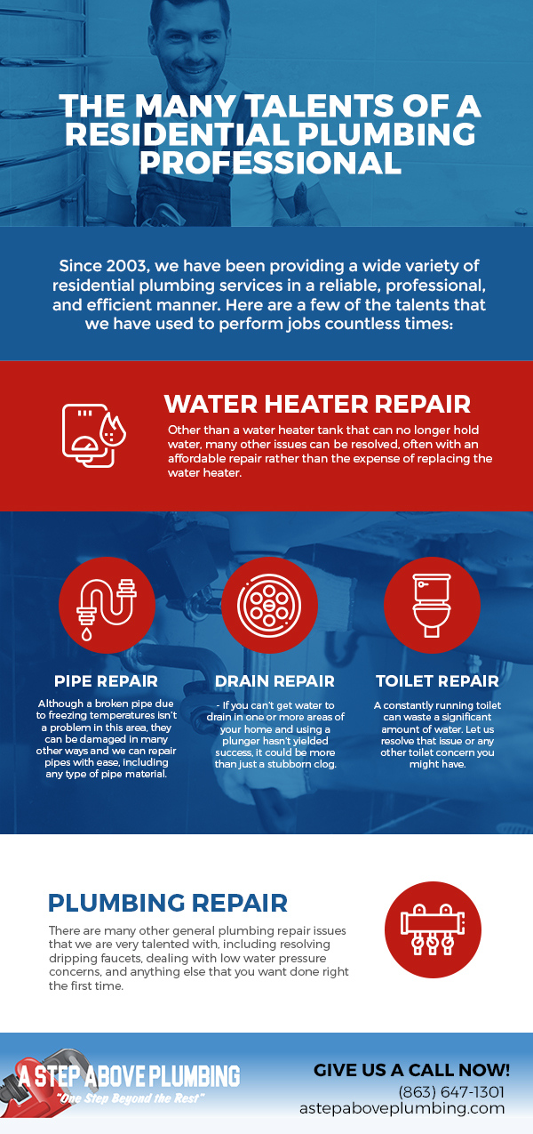 The Many Talents of a Residential Plumbing Professional [infographic]